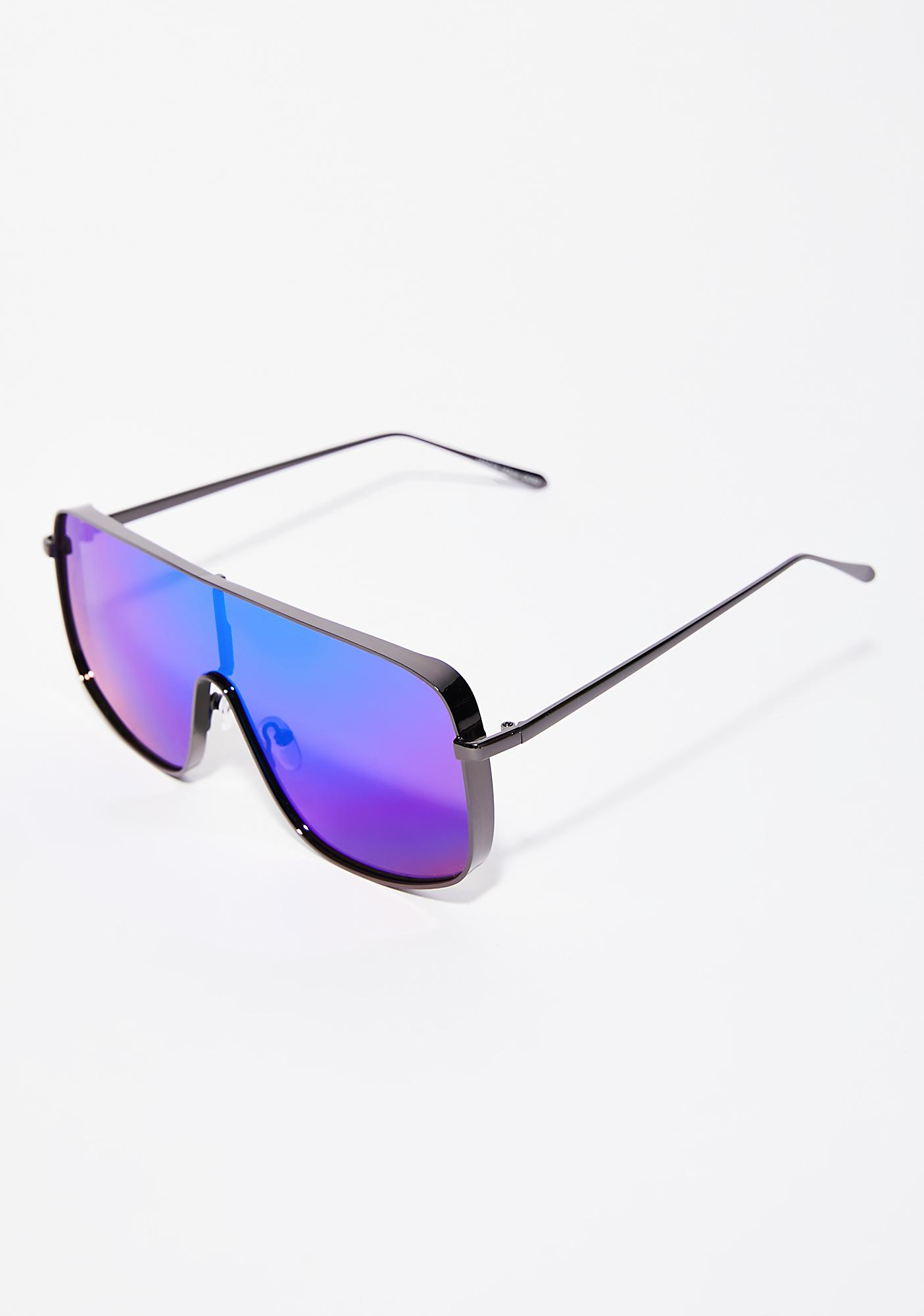 Stare Down Shield Sunglasses