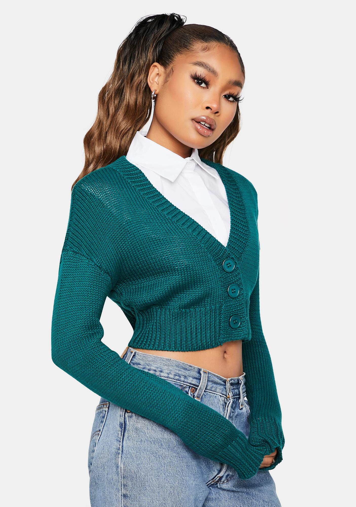 Learn My Name Cropped Cardigan