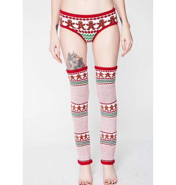 Knitty Kitty Gingerbread Knit Leg Warmers