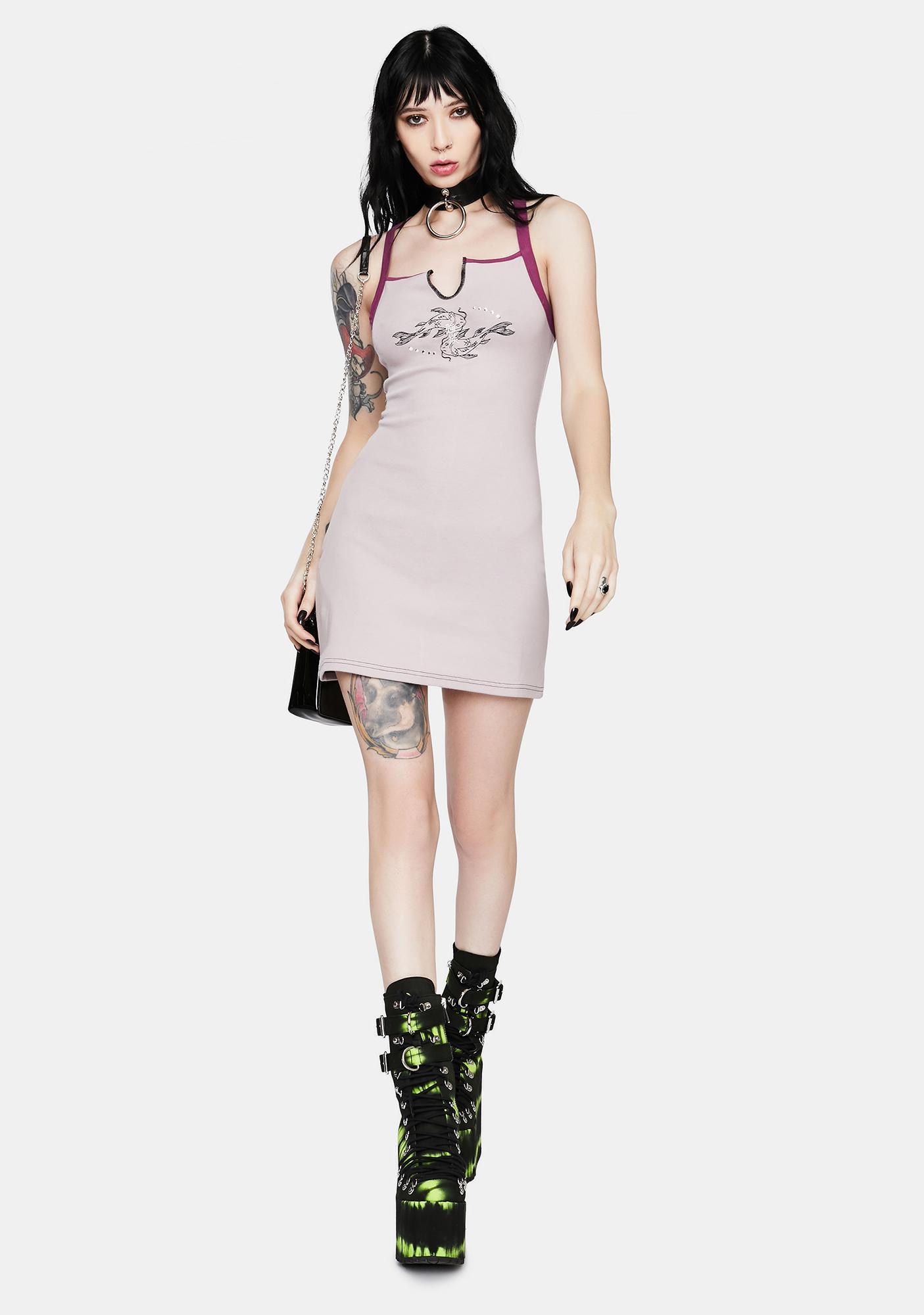 GANGYOUNG Light Purple Koi Tank Dress
