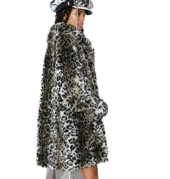 Vintage Helena Vera Snow Leopard Coat