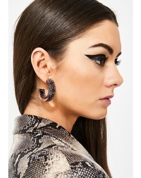 Servin' Snakebite Hoop Earrings