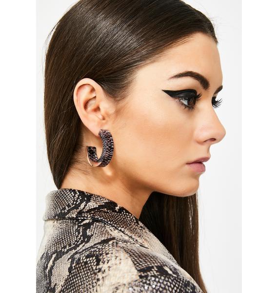 Servin' Snakebite Hoop Earrings