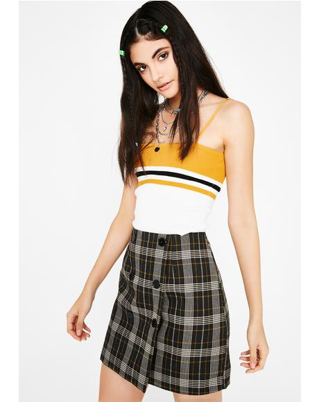 Clueless AF Plaid Skirt