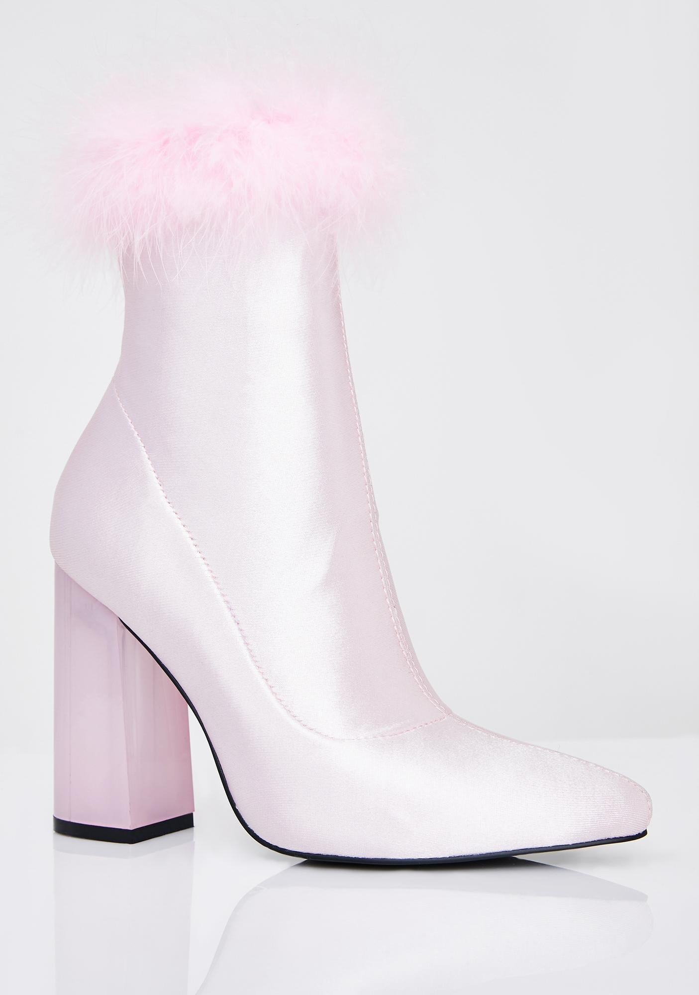 Sugar Thrillz Luv Me Or Hate Me Marabou Boots