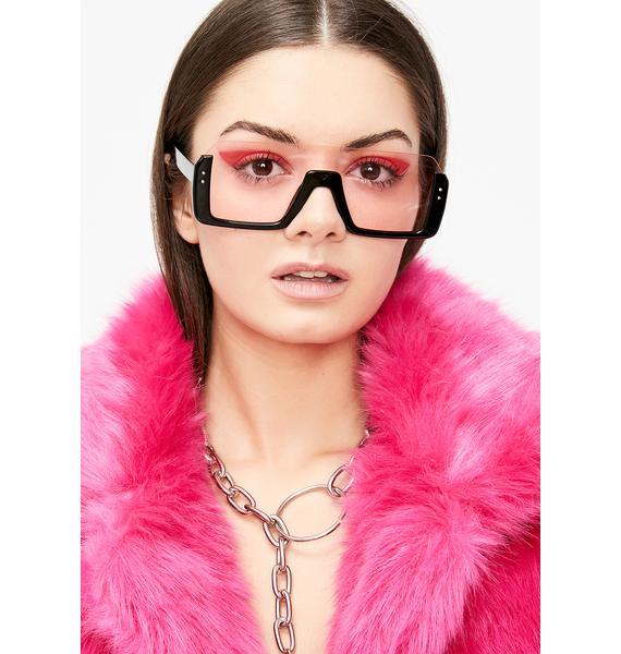 Cut Off Oversized Sunglasses