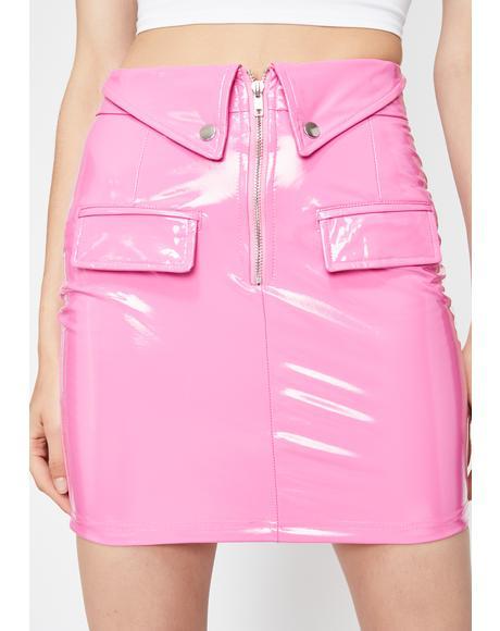 Doll Dilemma Vinyl Skirt