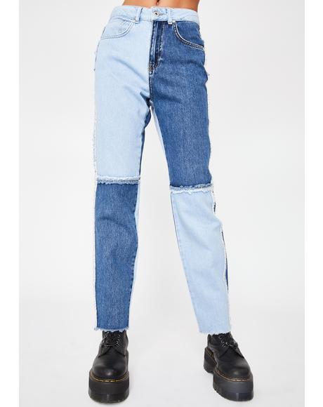Quarter Panel Mom Jeans