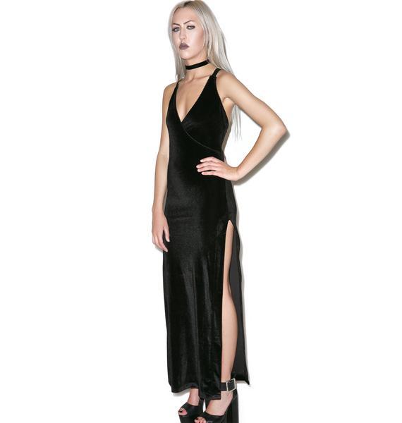 Widow Obsidian Velvet Maxi Dress