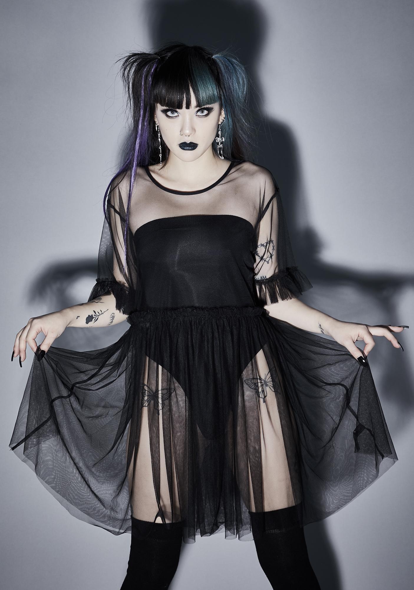 Widow Shadow Lurker Sheer Dress