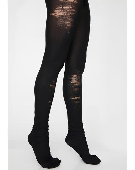 Break Rules Distressed Tights