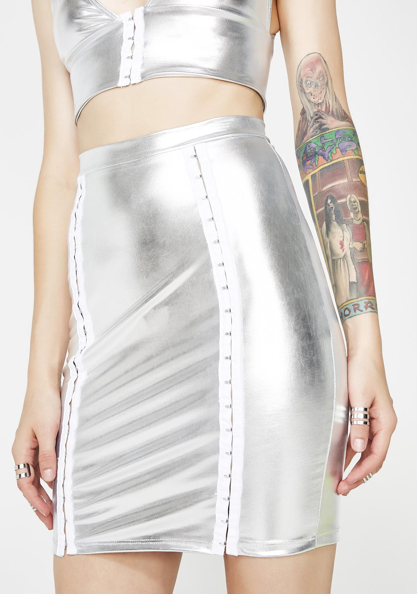 Cosmo Queen Metallic Midi Skirt