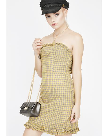 Little Miss Sunshine Plaid Dress