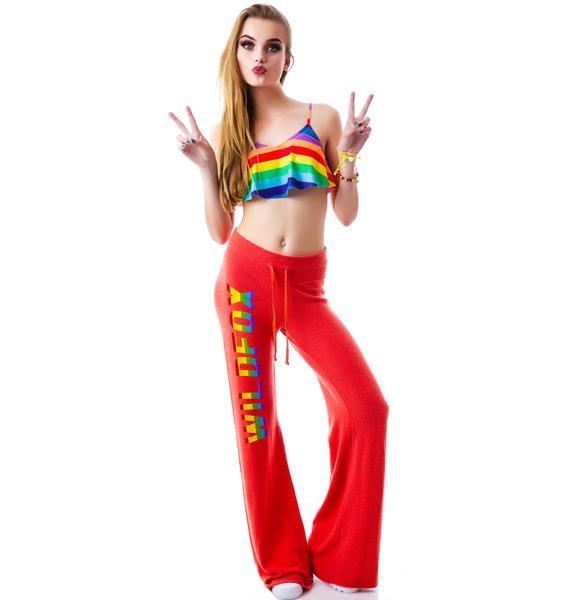 Wildfox Couture Rainbow Fox Baggy Beach Pant