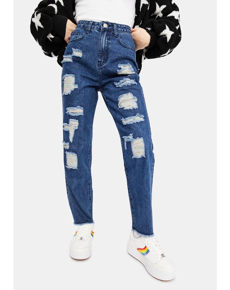 Blue Without U Denim Jeans