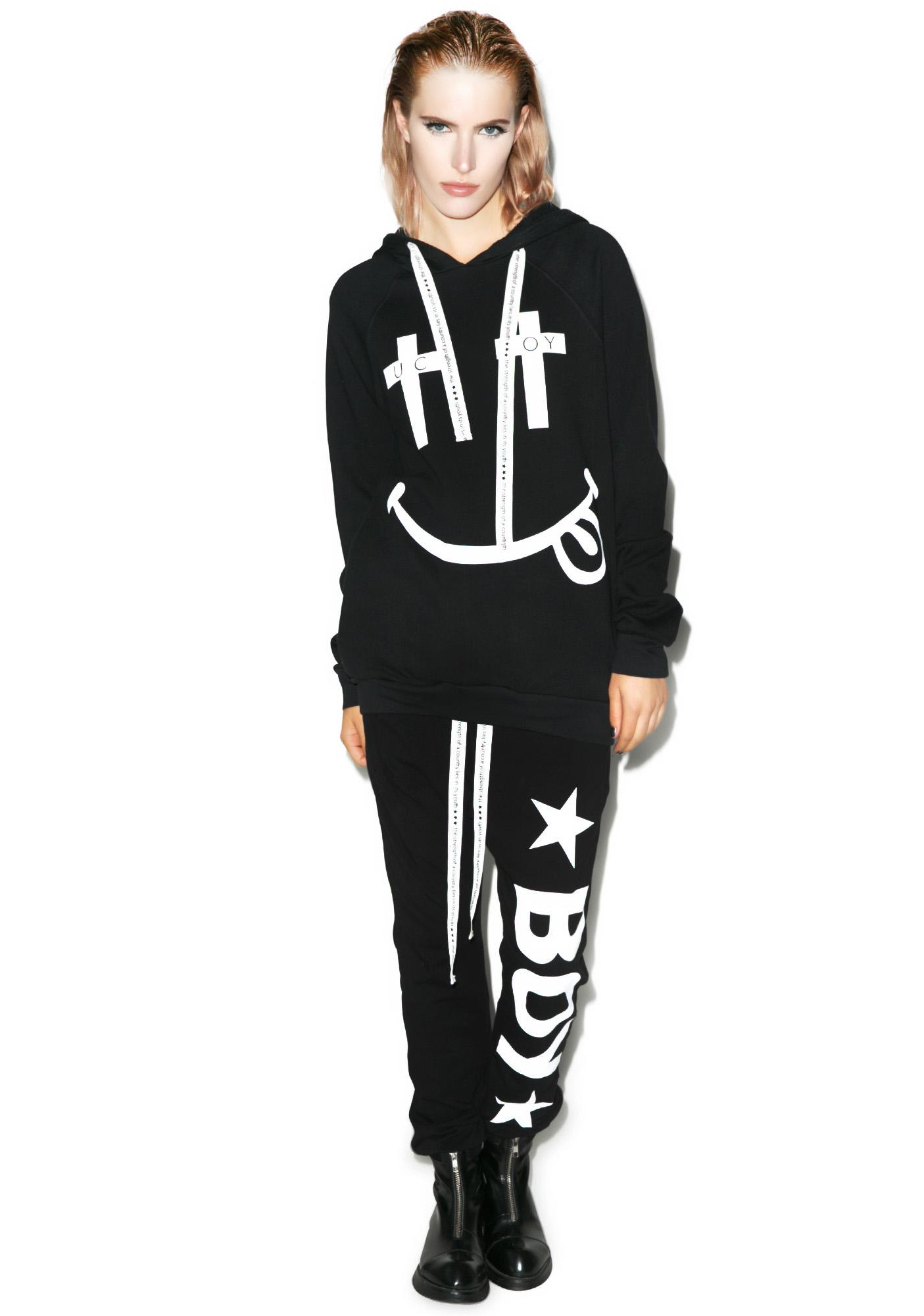 BOY London United Boy Black Acid Hooded Sweatshirt