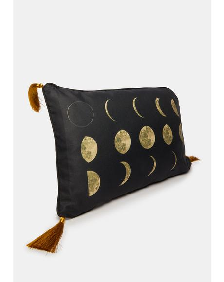 Just A Phase Rectangle Moon Pillow