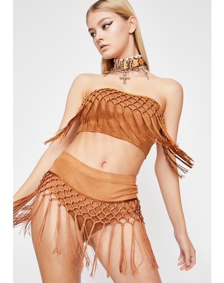 Sand Fringe Fetish Set