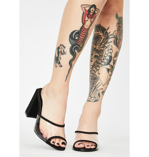 Not Totally Sweet Peep Toe Heels