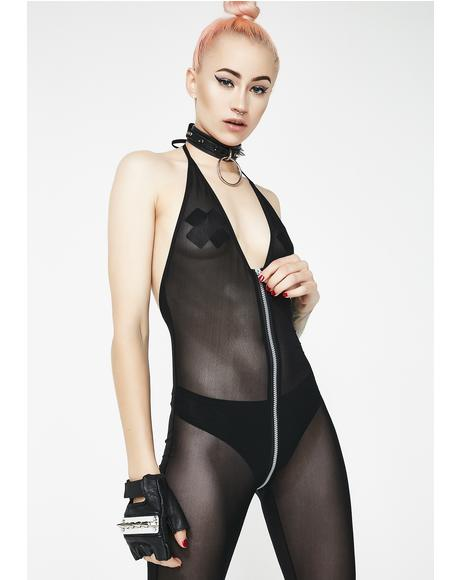 Make Ur Own Rules Zipper Bodystocking