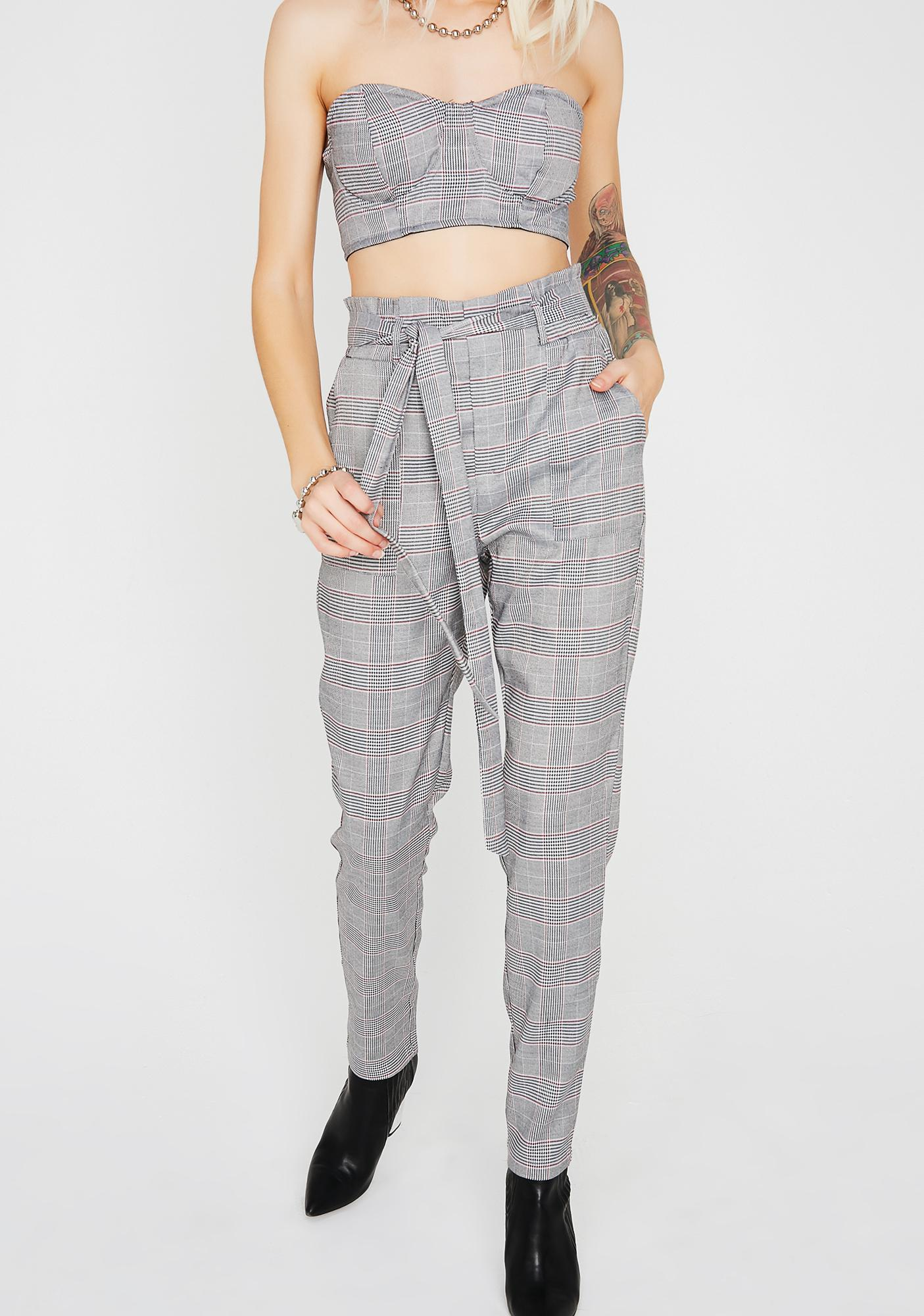 Late Nights Plaid Set