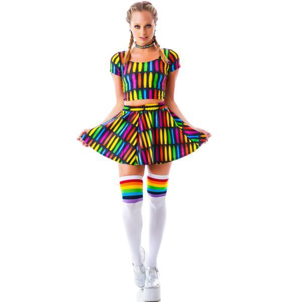 Zara Terez Glowstick Lightshow Skater Skirt
