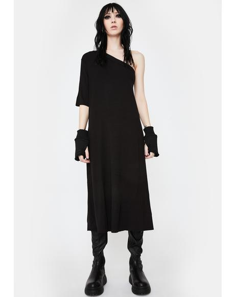 Peak Shoulder Tunic Dress