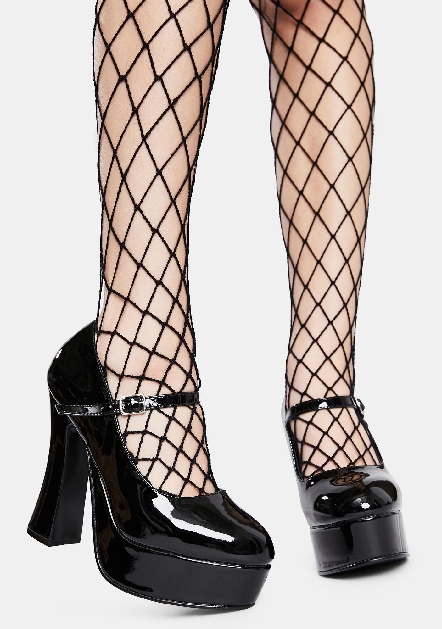 Demonia Dolly Patent Platform Heels