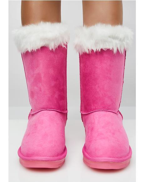 Bubblegum Stay Lit Snow Boots