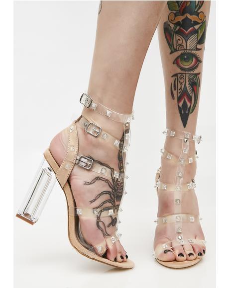Futuristic Feminist Crystal Heels