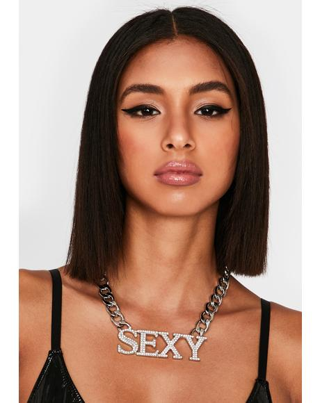 Feelin' Myself Rhinestone Necklace