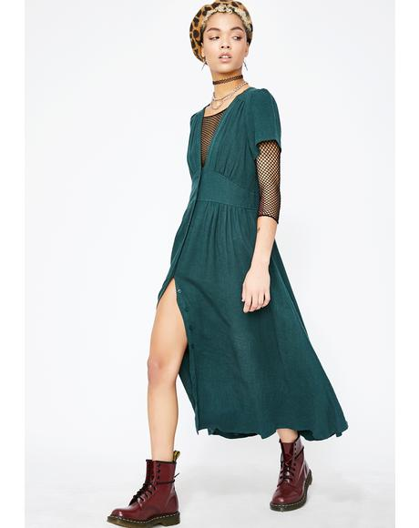 Flowin' Fury Midi Dress