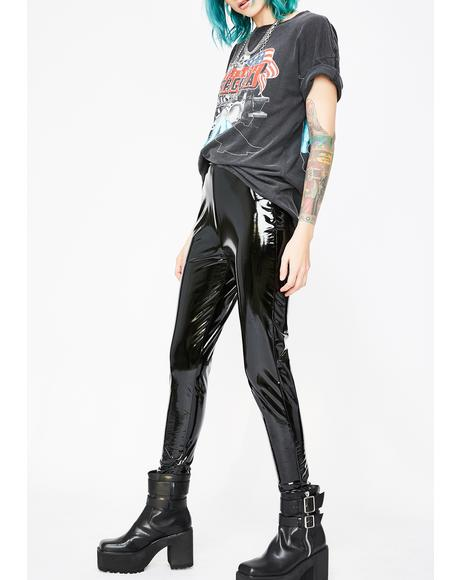 Burner Blur Vinyl Leggings