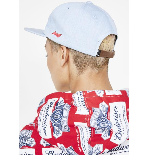 HUF Budweiser Label 6 Panel Hat