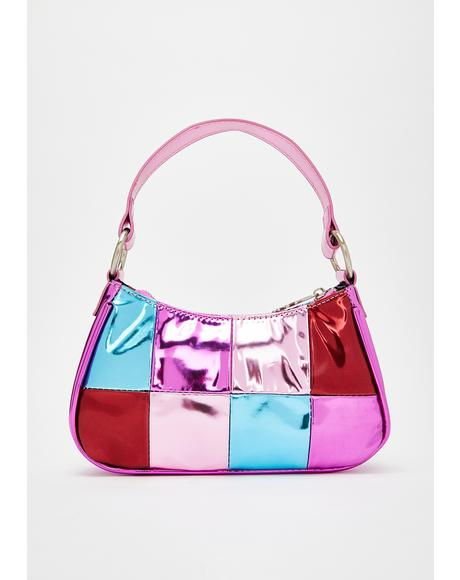 Shop Til I Drop Metallic Handbag