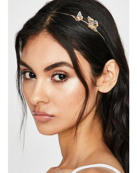 Gold Most Mystical Butterfly Headband