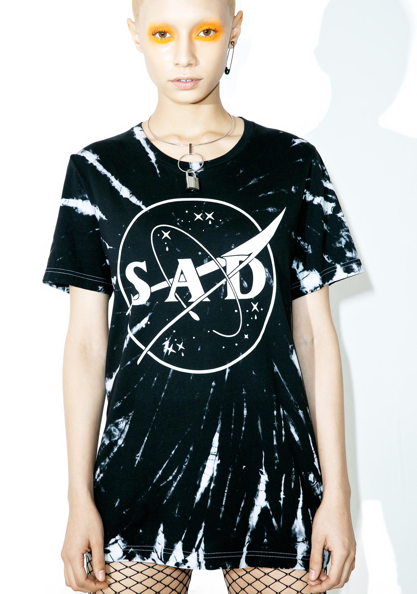 Sad Boy Crew SadSpace #Customs Tee