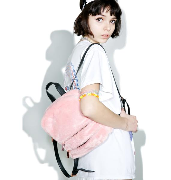 Skinnydip Molly Pink Fluff Backpack