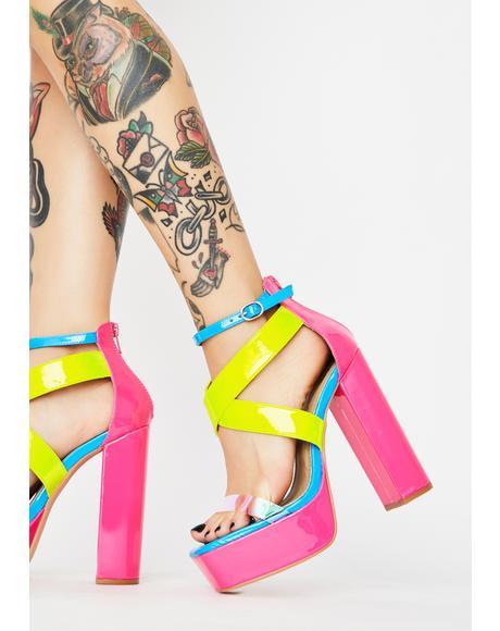Reach Nirvana Platform Heels