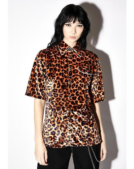 Leopard Button Up Shirt