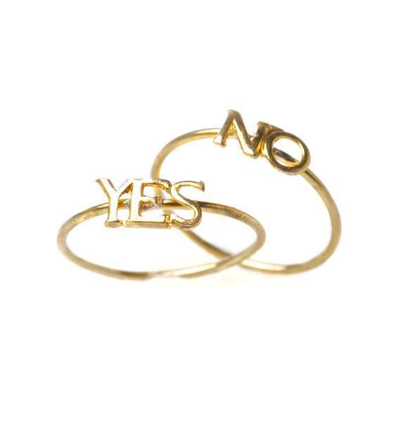 Vittrock Yes Or No Ring Set