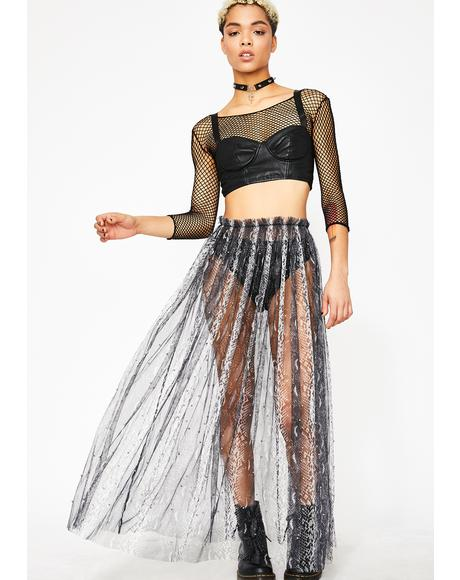 Fierce Call To Action Tulle Skirt