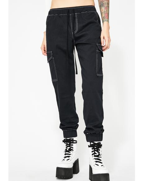 Cut Throat Cutie Cargo Joggers