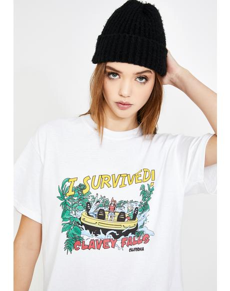 Water Rapids Graphic Boyfriend Tee