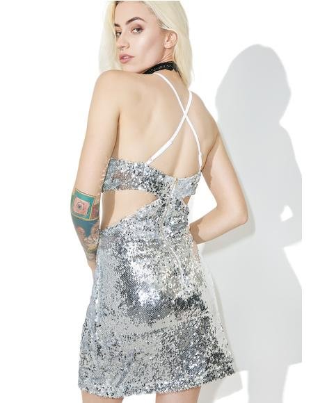 Sequin Desire Cut-Out Dress
