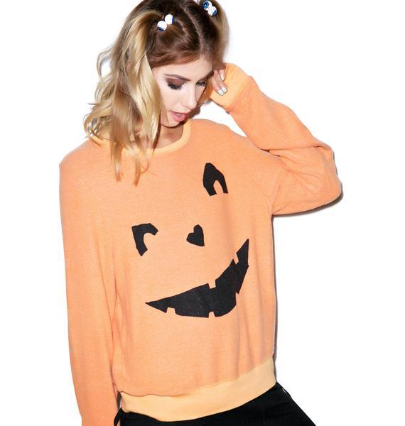 Wildfox Couture Happy As A Pumpkin Baggy Beach Jumper