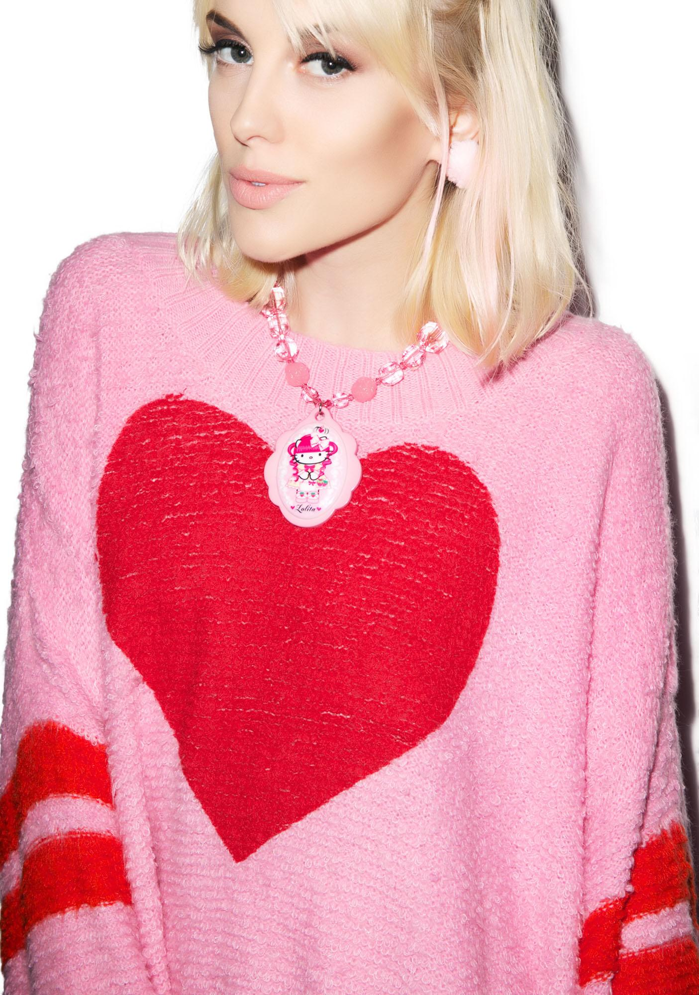 Wildfox Couture Brave Heart Chunky Oversized Sweater