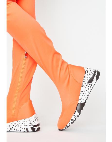 Mango Posse Poise Sneaker Boots