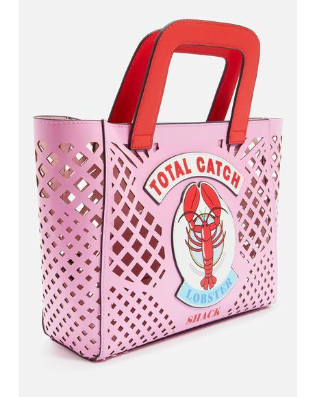 Lobster Basket Tote Bag