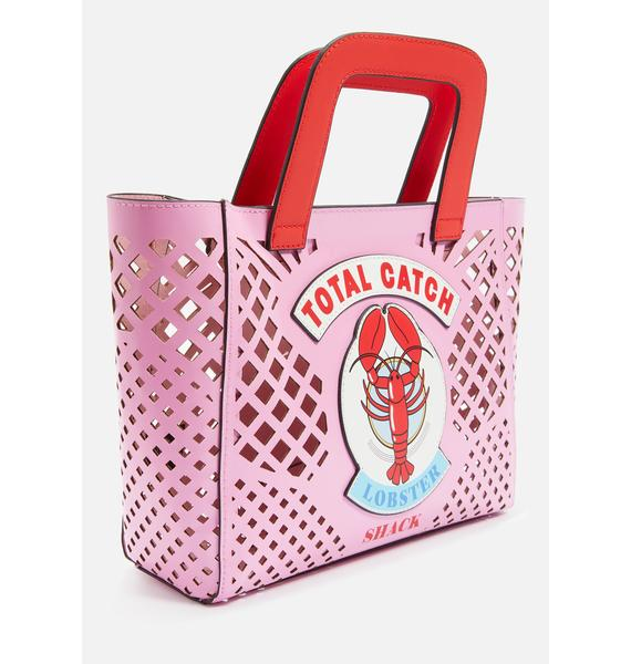 Skinnydip Lobster Basket Tote Bag